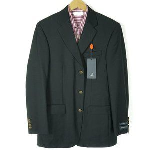 Nautica Mens Blazer Jacket Coat Size 40L Long